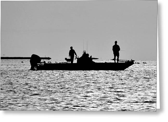 Galveston Greeting Cards - Galveston Bay Fishing Greeting Card by Kristina Deane