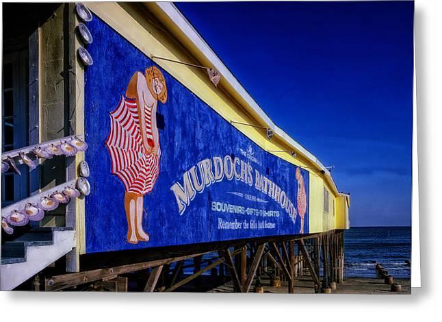 Galveston Greeting Cards - Galveston Beach Sign Greeting Card by Mountain Dreams
