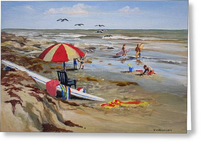 Galveston Paintings Greeting Cards - Galveston Getaway Greeting Card by Stephen Williamson