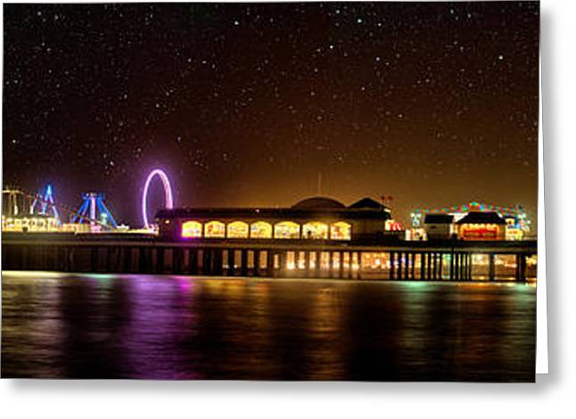 Sea Wall Greeting Cards - Galveston Historic Pleasure Pier Greeting Card by Thomas Zimmerman