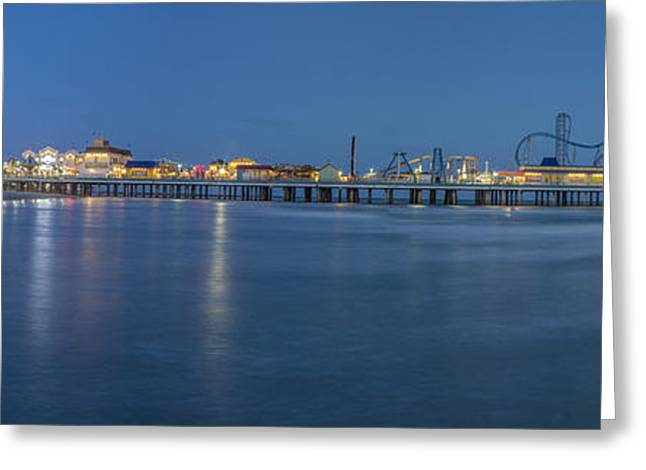 Galveston Photographs Greeting Cards - Galveston Pier at Sunset Greeting Card by John McGraw