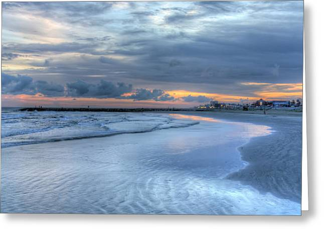 Galveston Sunset Greeting Card by Gregory Cox