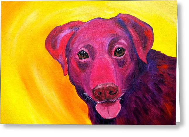 Panting Dog Greeting Cards - Gambit Greeting Card by Debi Starr