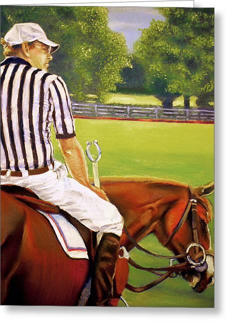 Polo Shirts Greeting Cards - Game at Pause Greeting Card by Karl Bronk