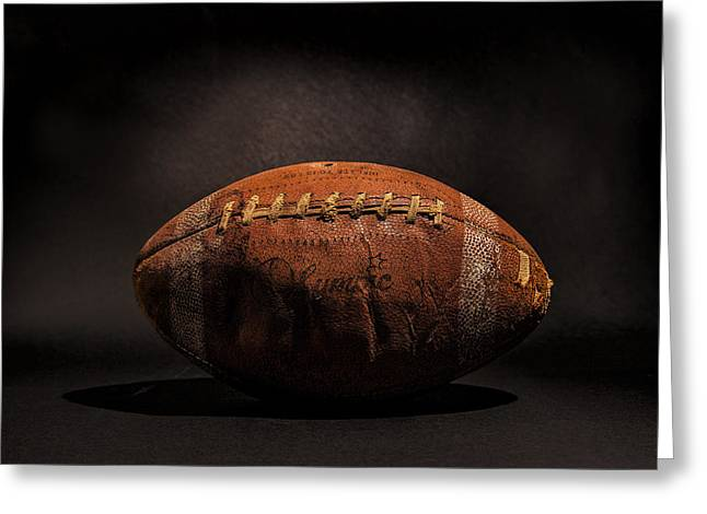 Sports Greeting Cards - Game Ball Greeting Card by Peter Tellone