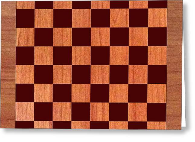 Thin Greeting Cards - Game Board Greeting Card by Jack Pumphrey