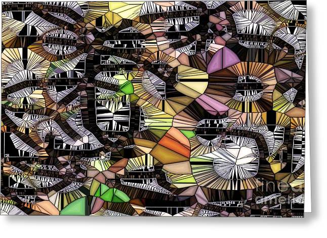 Roadway Digital Art Greeting Cards - Game Board Greeting Card by Ron Bissett