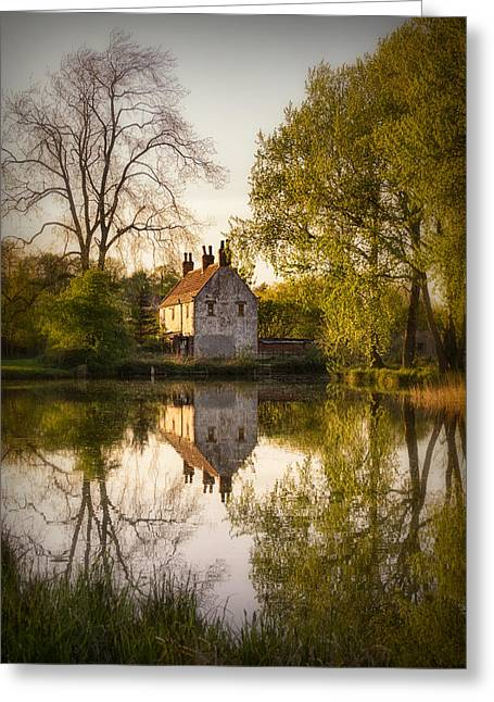 Barber Greeting Cards - Game Keepers Cottage Cusworth Greeting Card by Ian Barber