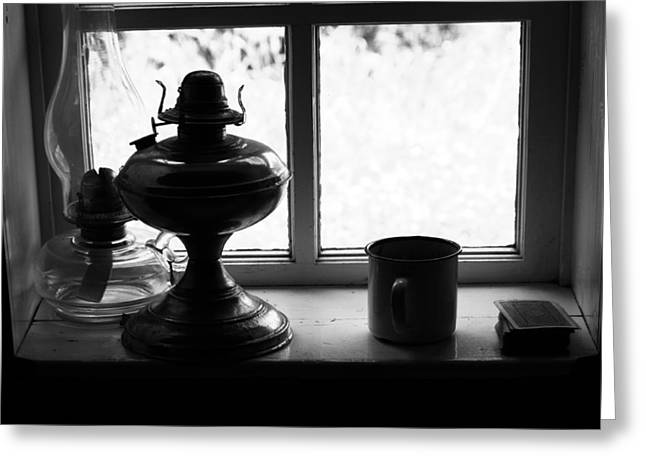 Hurricane Lamp Greeting Cards - Game Night Greeting Card by Jerry Cordeiro