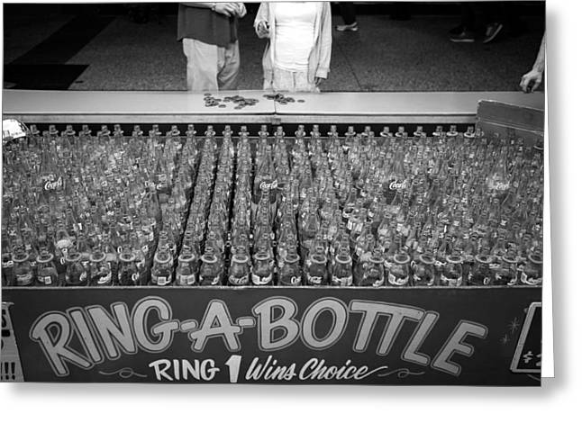 Win Bottles Greeting Cards - Game of Chance Greeting Card by Ben Carroll