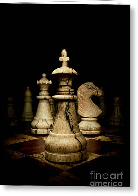 Checkmate Greeting Cards - Game of Chess Greeting Card by Oscar Gutierrez