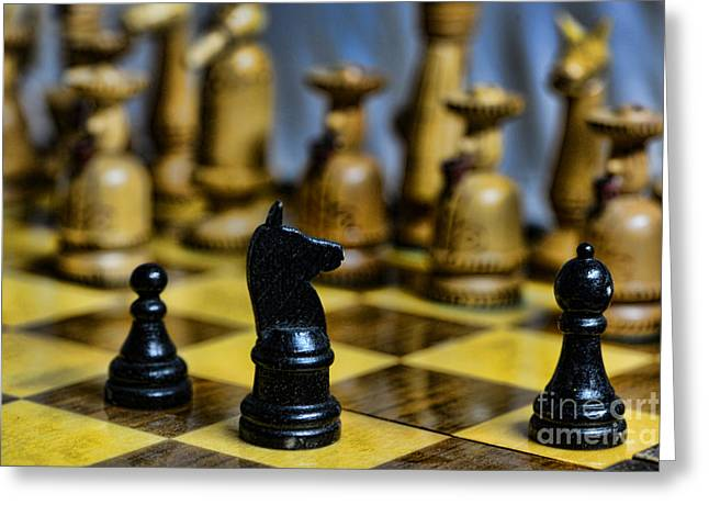 Chess Player Greeting Cards - Game of Chess Greeting Card by Paul Ward