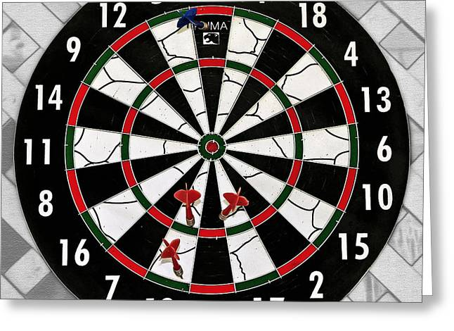 Skill Game Greeting Cards - Game of Darts Anyone? Greeting Card by Kaye Menner