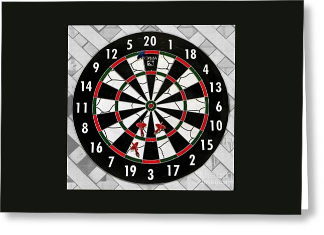 Game Of Darts Anyone? Greeting Card by Kaye Menner
