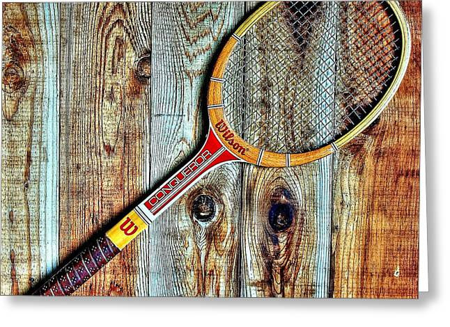 Racquet Photographs Greeting Cards - Game of Love Greeting Card by Benjamin Yeager