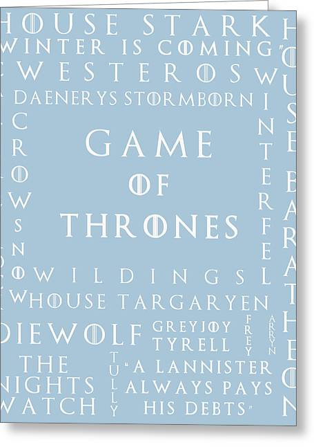 Watch The Throne Greeting Cards - Game Of Thrones 10 Greeting Card by Nomad Art And  Design