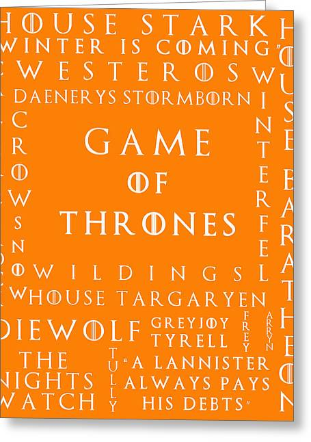 Watch The Throne Greeting Cards - Game Of Thrones 12 Greeting Card by Nomad Art And  Design