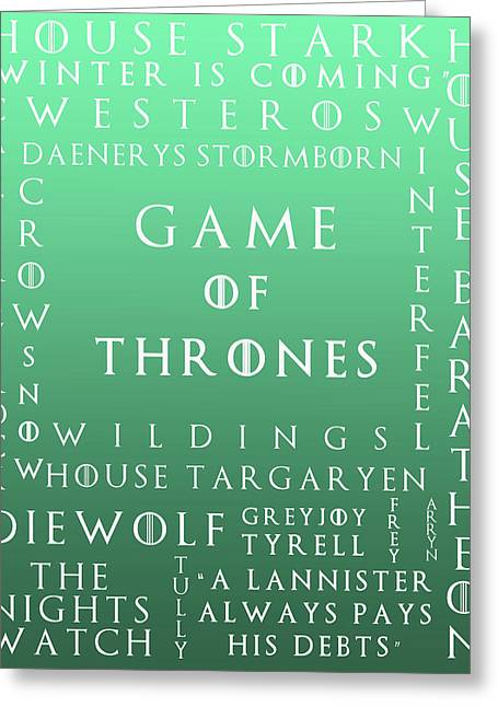 Watch The Throne Greeting Cards - Game Of Thrones 15 Greeting Card by Nomad Art And  Design