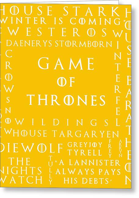 Watch The Throne Greeting Cards - Game Of Thrones 16 Greeting Card by Nomad Art And  Design