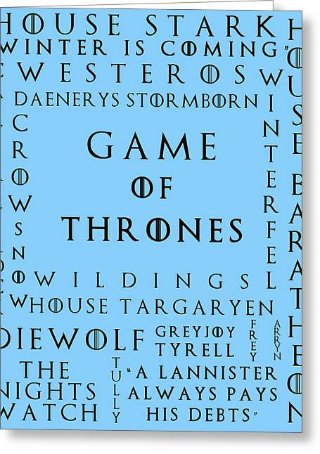 Watch The Throne Greeting Cards - Game Of Thrones 18 Greeting Card by Nomad Art And  Design