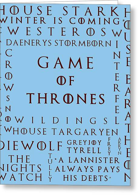 Watch The Throne Greeting Cards - Game Of Thrones 3 Greeting Card by Nomad Art And  Design
