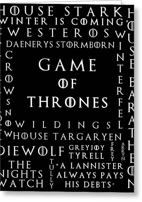 Watch The Throne Greeting Cards - Game Of Thrones 8 Greeting Card by Nomad Art And  Design