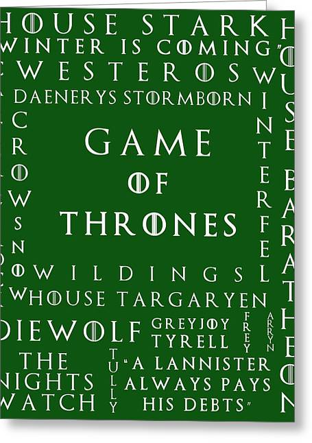 Watch The Throne Greeting Cards - Game Of Thrones 9 Greeting Card by Nomad Art And  Design