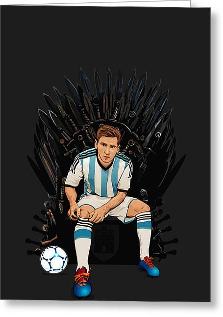Catalunya Digital Greeting Cards - Game of Thrones King Lionel Messi House Catalunya Greeting Card by Akyanyme