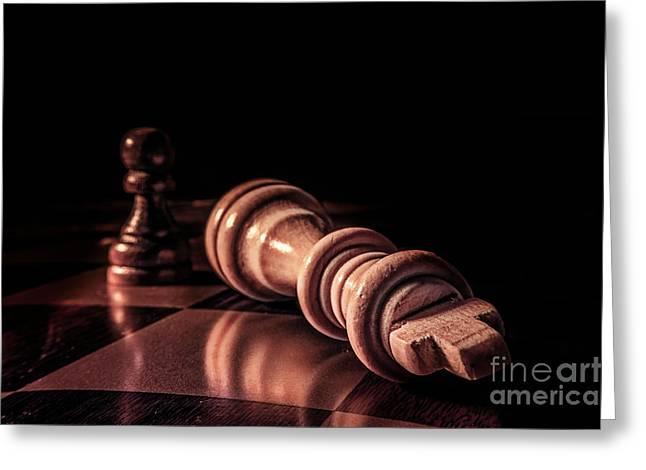 Checkmate Digital Art Greeting Cards - Game over Greeting Card by John Georgiou