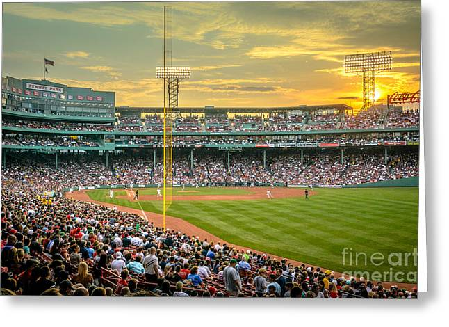 Fenway Park Greeting Cards - Fenway Park Greeting Card by Mike Ste Marie