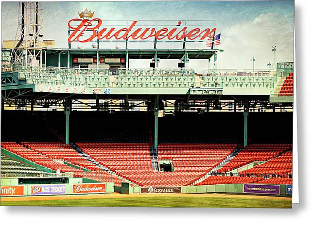 Gameday Ready At Fenway Greeting Card by Stephen Stookey