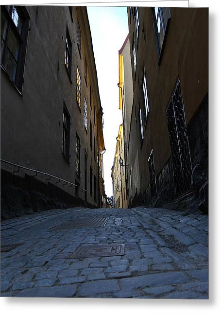 Frederico Borges Photographs Greeting Cards - Gamla Stan street Greeting Card by Frederico Borges