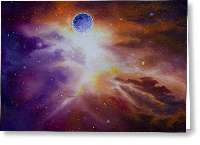 Wolfman Greeting Cards - Gamma Nebula Greeting Card by James Christopher Hill