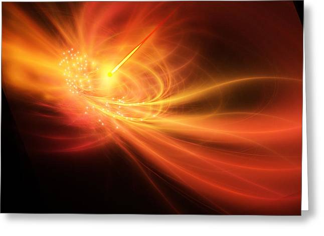 Gamma Rays Greeting Cards - Gamma Ray Burst Greeting Card by Corey Ford