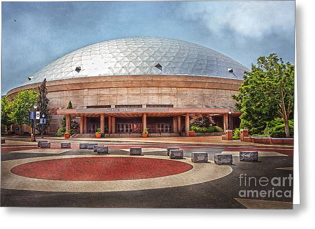 Recently Sold -  - Husky Greeting Cards - Gampel Pavilion - UConn Huskies Greeting Card by Steve Pfaffle