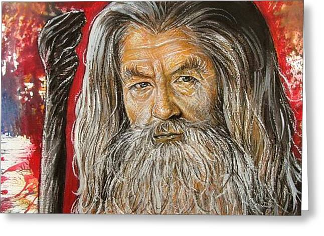 Lord Of The Rings Drawings Greeting Cards - Gandalf Greeting Card by Anastasis  Anastasi