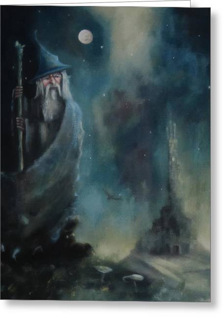 Lord Of The Rings Greeting Cards - Gandalf Escape From Orthanc Greeting Card by Joe  Gilronan
