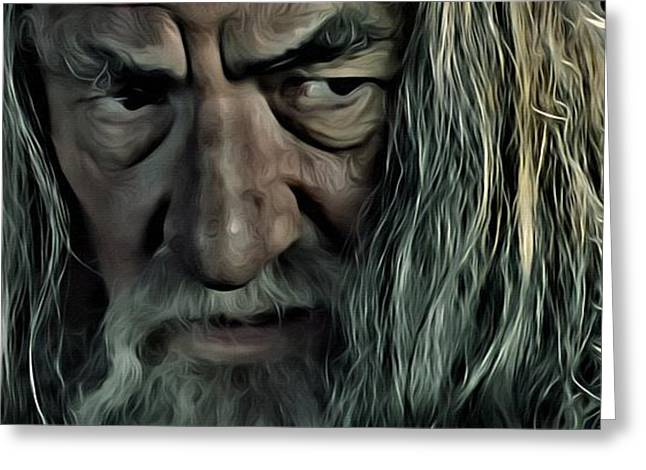 Lord Of The Rings Photographs Greeting Cards - Gandalf Greeting Card by Florian Rodarte