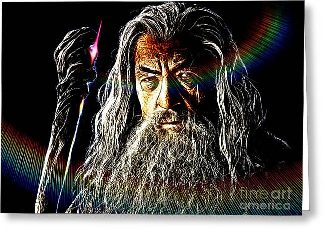 Two Towers Greeting Cards - Gandalf Greeting Card by The DigArtisT