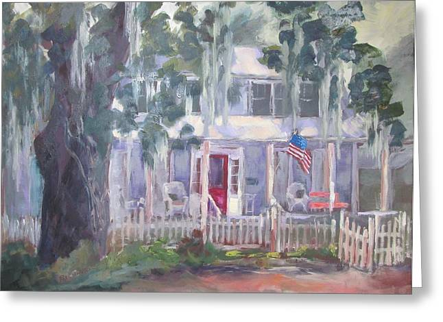 Town Of Franklin Greeting Cards - Gander House Greeting Card by Susan Richardson