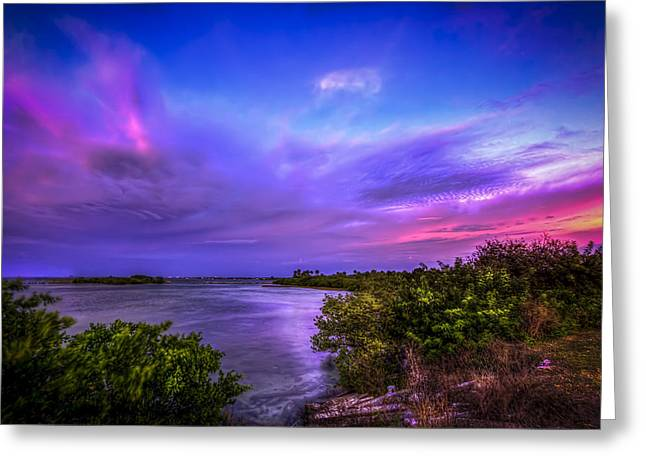 Tampa Bay Greeting Cards - Gandy Lagoon 2 Greeting Card by Marvin Spates