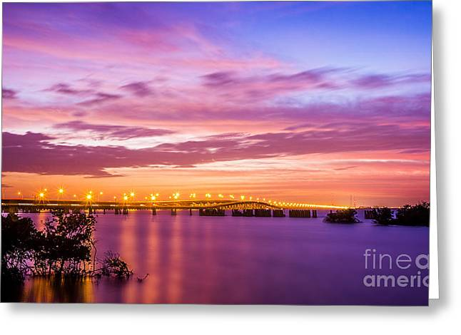 Breakwater Greeting Cards - Gandy Lights Greeting Card by Marvin Spates
