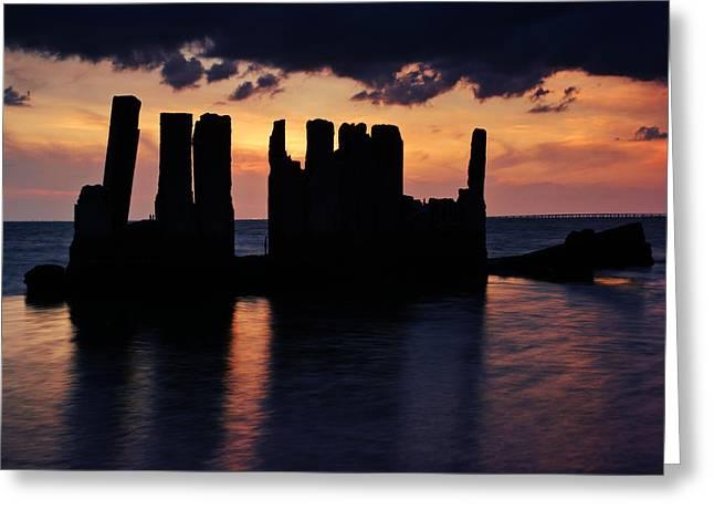 Beach At Night Greeting Cards - Gandyhenge III Greeting Card by Daniel Woodrum