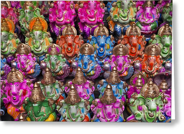 Ganesha Statue Pattern Greeting Card by Tim Gainey