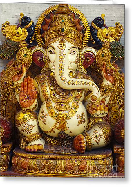 Ganapati Greeting Cards - Ganesha  Greeting Card by Tim Gainey