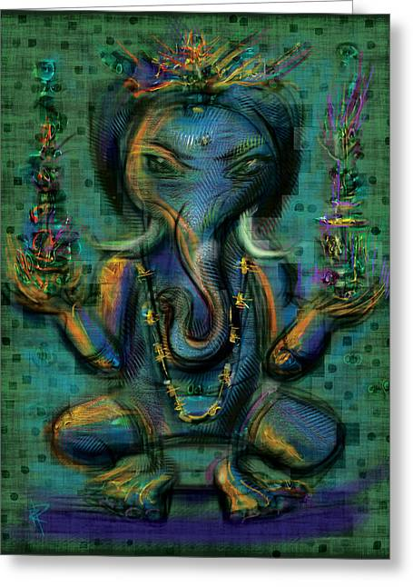 Ganesha Too Greeting Card by Russell Pierce