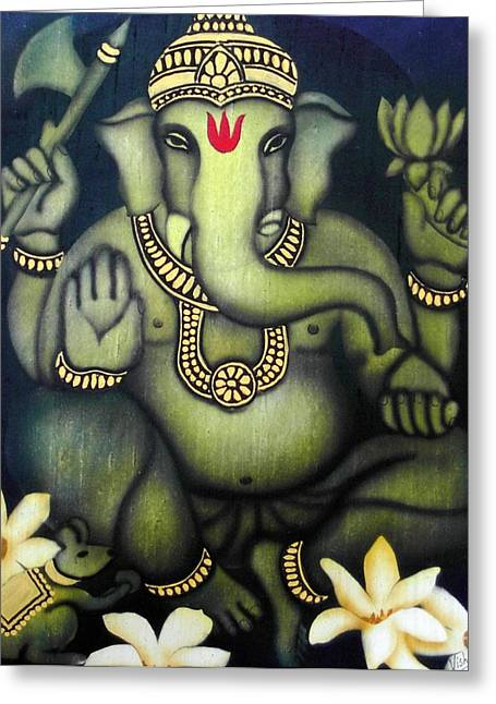 Vishwajyoti Mohrhoff Greeting Cards - Ganesha Greeting Card by Vishwajyoti Mohrhoff