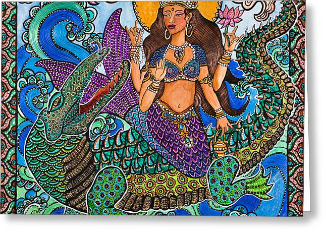 Cole Paintings Greeting Cards - Ganga Greeting Card by Melissa Cole