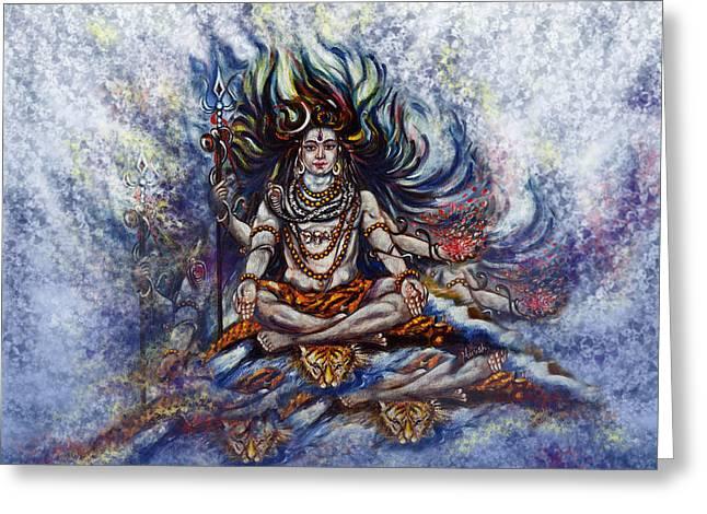 Hindu Goddess Greeting Cards - Gangadhar Greeting Card by Harsh Malik
