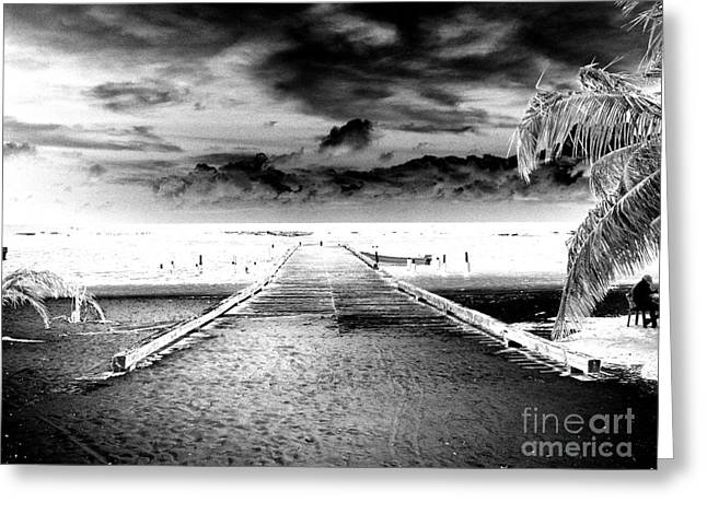 Inverse Greeting Cards - Gangplank of Perfection Infrared Extreme Greeting Card by Heather Kirk
